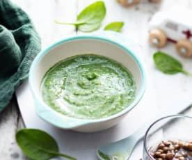 Lentil, Spinach and Cauliflower Purée