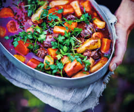 Ragoût de bœuf aux légumes-racines