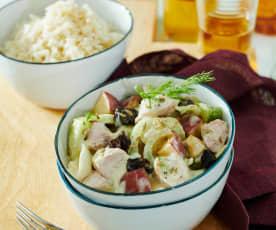 Fenchel-Putengeschnetzeltes mit Reis