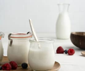 Iogurte vegan de coco