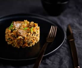 Wild Rice Pork Pilaf