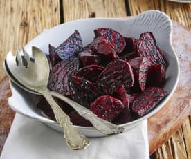 Steamed and Grilled Beets