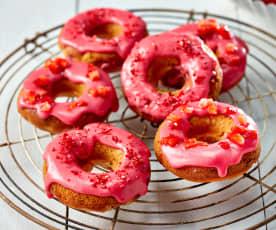 Erdbeer-Donuts
