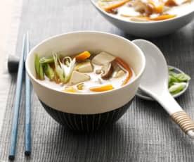 Zupa miso z warzywami