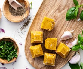 Cubitos de verduras sin sal