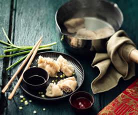 Ravioli au porc et chou chinois