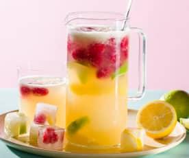 Mocktail de lima-limón y frambuesas