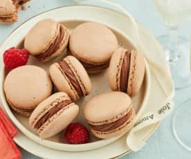 Macarons chocolat-framboise