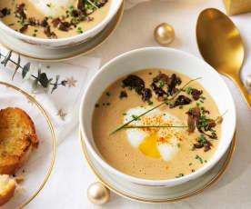 Crema de foie con huevo a baja temperatura