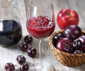 Confettura di frutta mista al vino rosso
