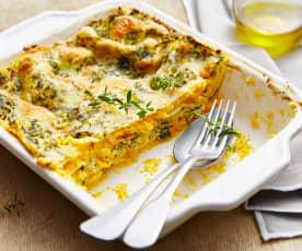 Lasagne végétariennes à la courge et aux blettes