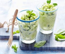 Salade fraîcheur concombre, courgette et menthe