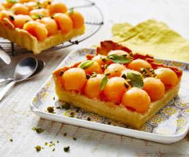 Tarte au melon et muscat de Rivesaltes