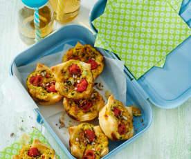 Gemüse-Blätterteig-Muffins