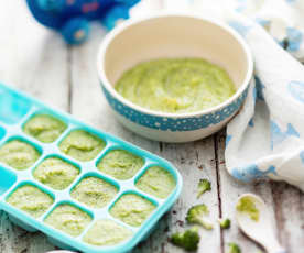 Curried Pea, Potato and Broccoli Purée
