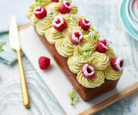 Cake framboise-pistache