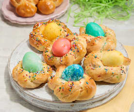 Easter Egg Bread Nests