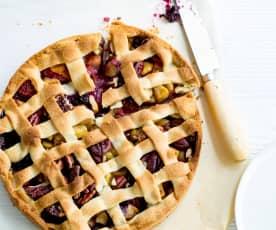 Tourte aux pommes et fruits rouges