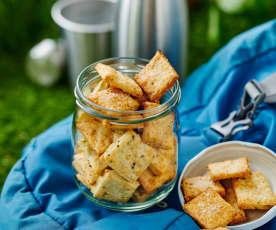 Rosmarin-Käse-Cracker