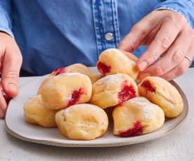Beignets à la confiture de fraises