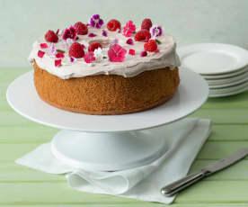 Raspberry chiffon cake