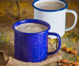 Spicy Hot Chocolate with Almond Milk