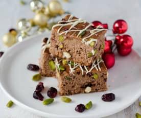 Gingerbread Bars mit Pistazien und Cranberrys