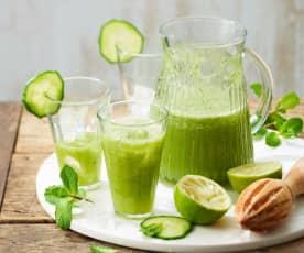 Cocktail au concombre, menthe et citron vert