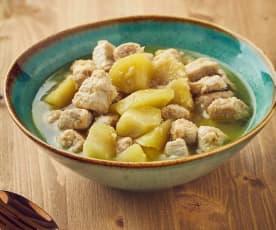 Lonza di maiale con le mele a Cottura Lenta