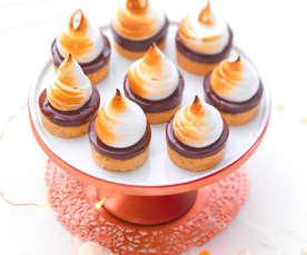 Petites bouchées au chocolat et meringue