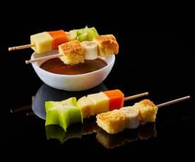 Bachour: Fondue tropical de maracuyá, chocolate y brioche