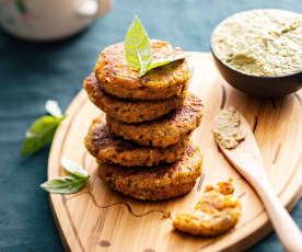 Baby-friendly Chickpea and Butter Bean Patties
