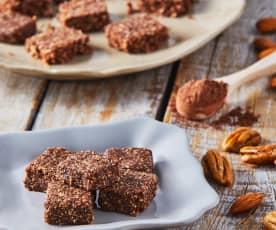 Cubitos de chocolate (dátiles, cocoa y avena)