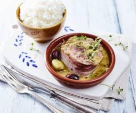 Zypriotische Rindfleischpäckchen mit Reis