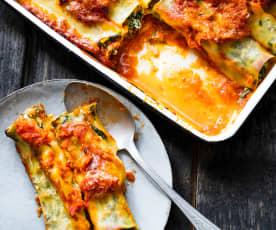 Cannelloni aux épinards, à la ricotta et au citron