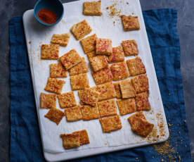 Bolachas crackers de farinha de milho