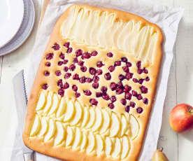 Bunter Obstkuchen vom Blech