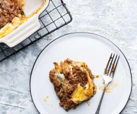 Lasaña boloñesa con pasta fresca (Batch cooking)