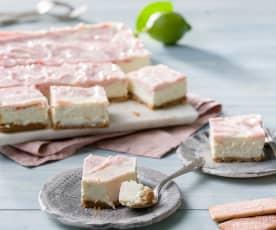 Tarta marmolada de fresa y mascarpone