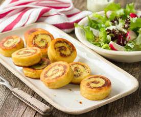 Kartoffel-Käse-Roulade mit RUPP Feinster Streich Emmentaler