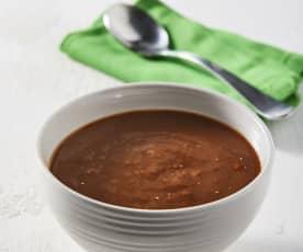 Sopa de frijol con quinoa