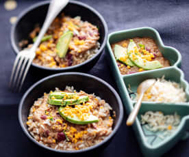 Baby-friendly Veg-loaded Chilli Con Carne with Brown Rice