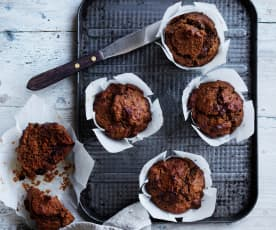 Chocolate carrot muffins (Toddlers and beyond)