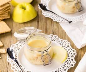 Dolce di mele in vasocottura