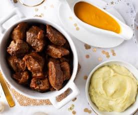 Ternera en salsa con glaseado (Cocción lenta)