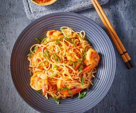 Chili Oil Noodles with Shrimp