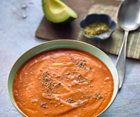Avokádovo-rajčatová polévka
