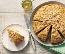 Mandel-Honig-Grieß-Kuchen