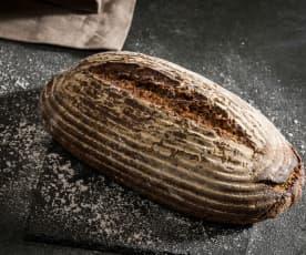 Pão de mistura de centeio sem levedura