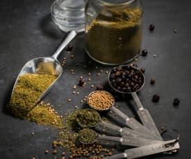 Mistura de ervas aromáticas para pão